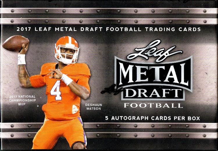 2017 Leaf Metal Draft Football Hobby 15 Box Case