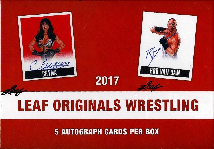 2017 Leaf Originals Wrestling Hobby 12 Box Case
