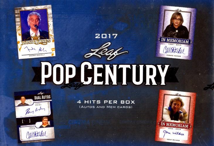 2017 Leaf Pop Century Trading Cards Box