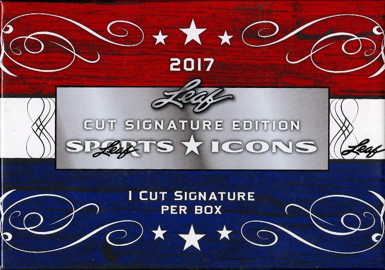 2017 Leaf Sports Icons Cut Signature 16 Box Case