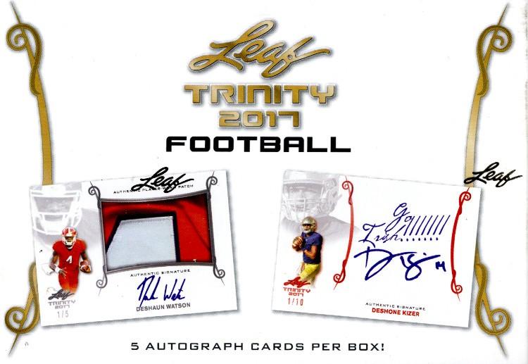 2017 Leaf Trinity Football Hobby 10 Box Case