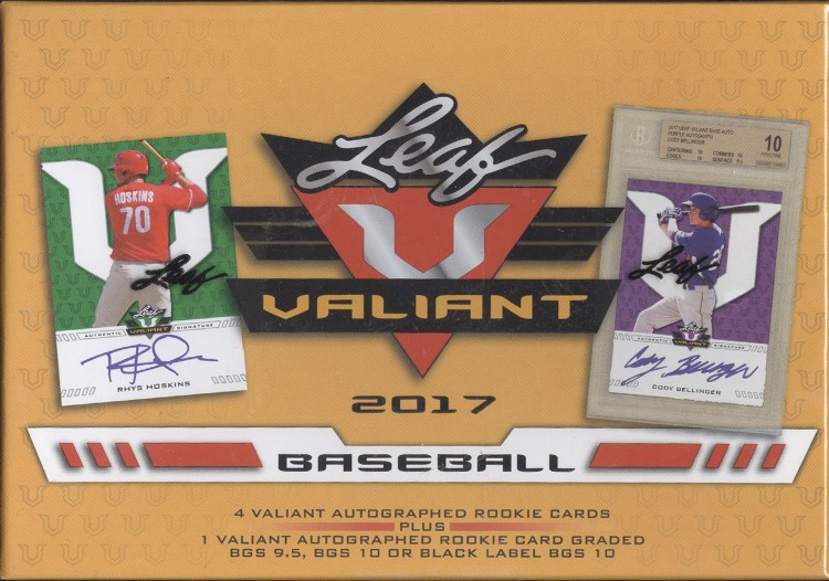 2017 Leaf Valiant Baseball Hobby Box