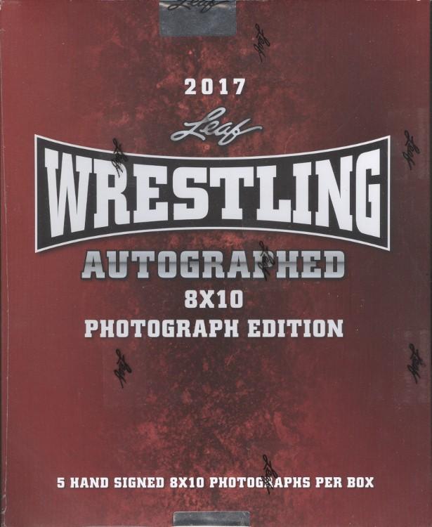 2017 Leaf Wrestling Signed 8x10 Photograph Ed 12 Box Case