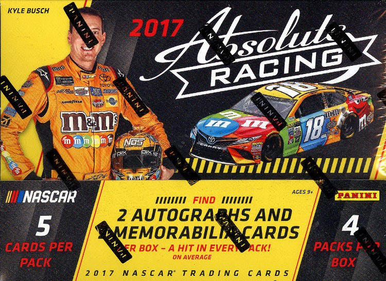 2017 Panini Absolute Racing Hobby 14 Box Case
