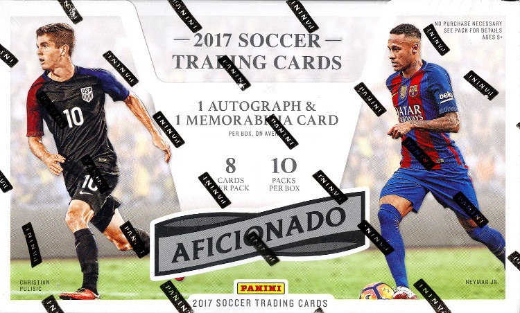 2016/17 Panini Aficionado Soccer Hobby 12 Box Case