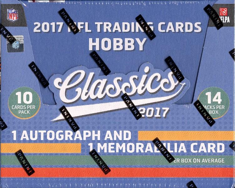 2017 Panini Classics Football Hobby 10 Box Case