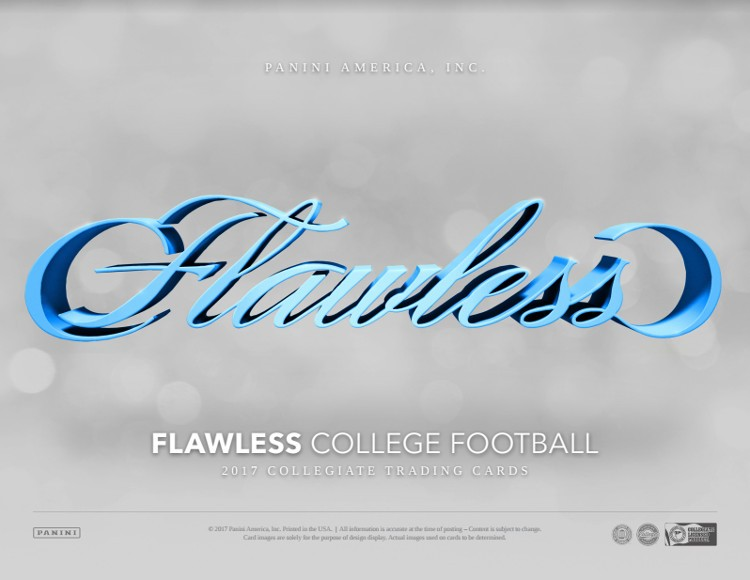 2017 Panini Flawless Collegiate Football Hobby 2 Box Case