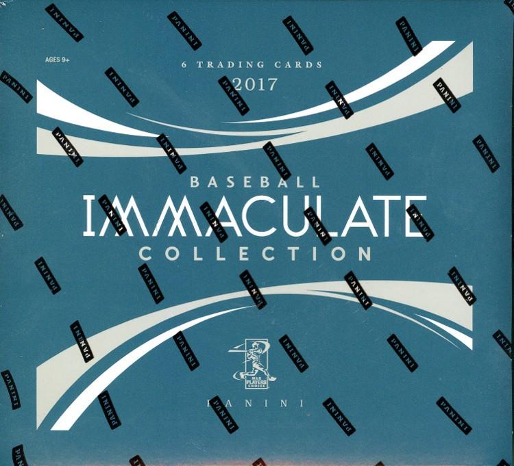 2017 Panini Immaculate Baseball Hobby Box