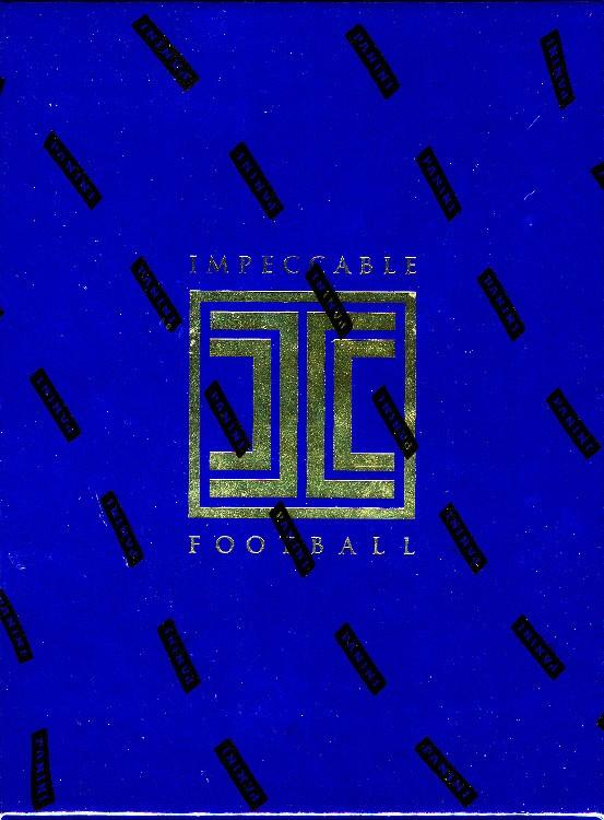 2017 Panini Impeccable Football Hobby 3 Box Case