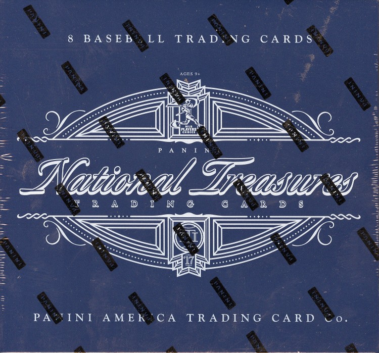 2017 Panini National Treasures Baseball Hobby 4 Box Case