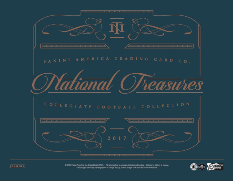 2017 Panini National Treasures College Football Hobby Box