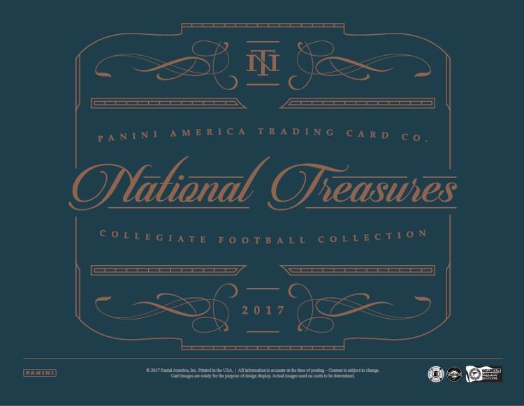 2017 Panini National Treasures College Football Hobby 4 Box Case
