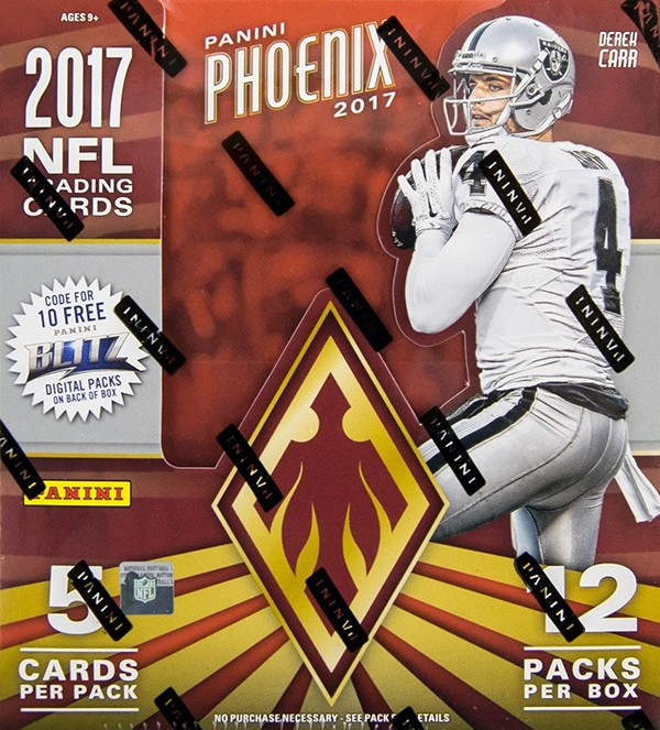 2017 Panini Phoenix Football Hobby 16 Box Case