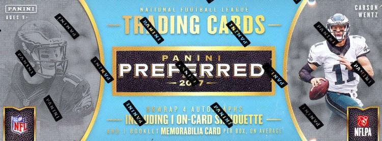 2017 Panini Preferred Football Hobby 10 Box Case