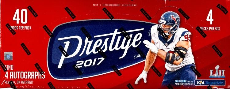 2017 Panini Prestige Football Hobby 12 Box Case