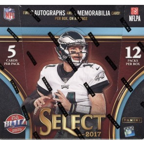 2017 Panini Select Football Hobby 12 Box Case