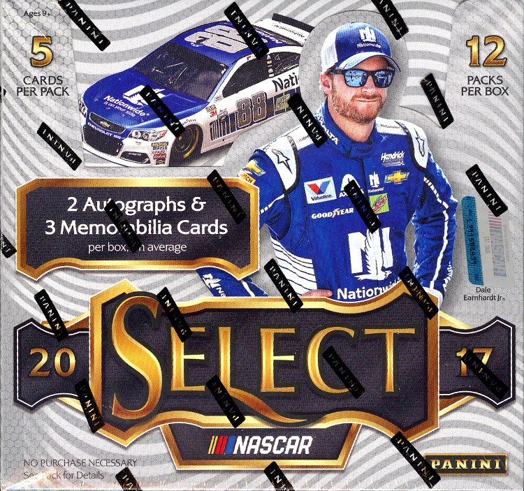 2017 Panini Select Racing Hobby 12 Box Case