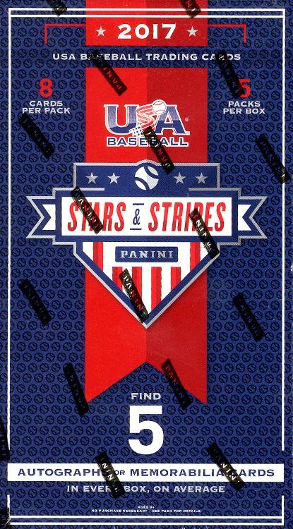 2017 Panini Stars and Stripes Baseball Hobby 20 Box Case