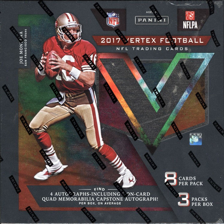 2017 Panini Vertex Football Hobby 4 Box Case