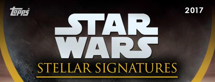 2017 Topps Star Wars Stellar Signatures Case