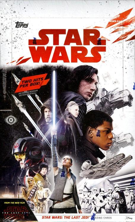 2017 Topps Star Wars The Last Jedi Hobby 12 Box Case