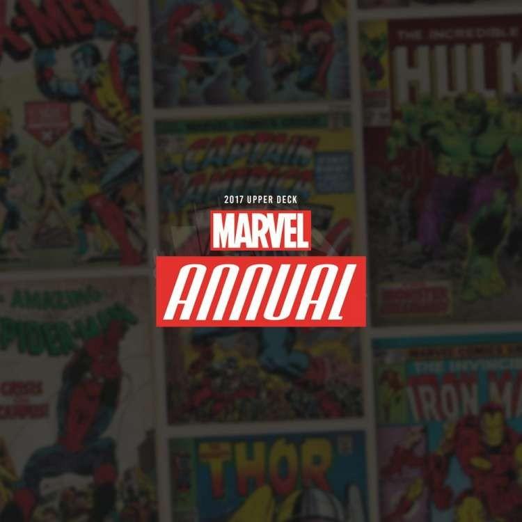 2017 Upper Deck Marvel Annual Hobby 12 Box Case