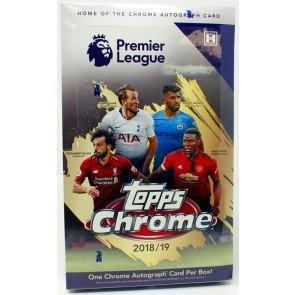 2018/19 Topps Chrome Premier League Soccer Hobby 12 Box Case
