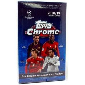 2018/19 Topps UEFA Champions League Chrome Soccer Box