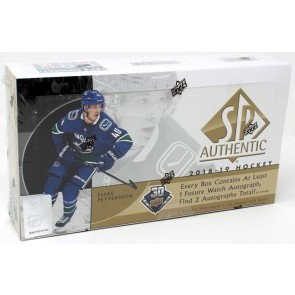 2018/19 Upper Deck SP Authentic Hockey Hobby 16 Box Case