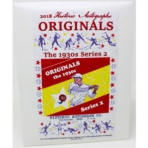 2018 Historic Autographs Originals The 1930s Series 2 Baseball Box