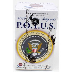 2018 Historic Autographs P.O.T.U.S. (President of the United States) Wax Edition 16 Box Case