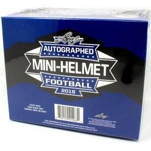 2018 Leaf Autographed Mini Helmet Football 8 Box Case