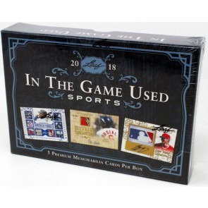 2018 Leaf In The Game (ITG) Game Used Sports Box