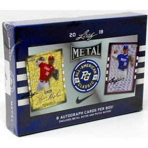 2018 Leaf Metal Perfect Game All-American Baseball 15 Box Case