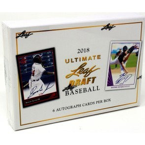 2018 Leaf Ultimate Draft Baseball Hobby 12 Box Case