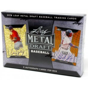 2018 Leaf Metal Draft Baseball Hobby 12 Box Case