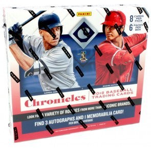 2018 Panini Chronicles Baseball Hobby 16 Box Case
