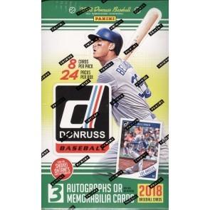 2018 Panini Donruss Baseball Hobby 16 Box Case
