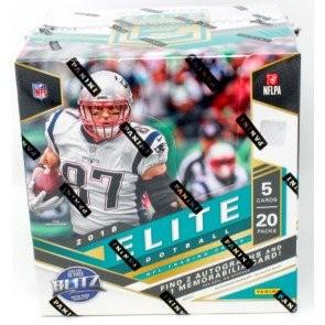 2018 Panini Donruss Elite Football Hobby 12 Box Case
