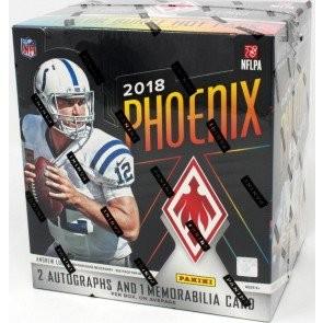 2018 Panini Phoenix Football Hobby 16 Box Case