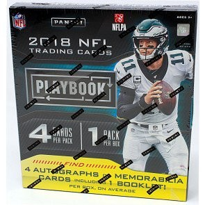 2018 Panini Playbook Football Hobby 8 Box Case