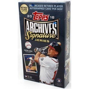 2018 Topps Archives Signature Series Retired Player Ed Baseball 20 Box Case