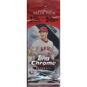 2018 Topps Chrome Baseball Value Rack 108ct Case