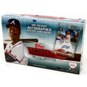 2018 Topps Clearly Authentic Baseball 20 Box Case