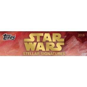 2018 Topps Star Wars Stellar Signatures Case