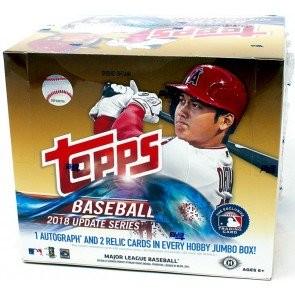 2018 Topps Update Series Baseball Jumbo 6 Box Case
