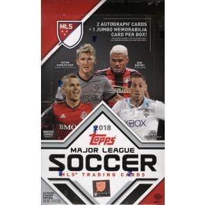 2018 Topps MLS Soccer Hobby 12 Box Case
