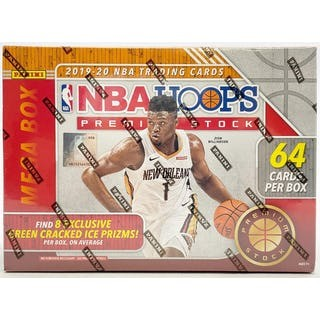 2019/20 Panini Hoops Premium Stock Basketball Mega Box (64 Cards)