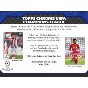 2019/20 Topps UEFA Champions League Chrome Soccer 12 Box Case