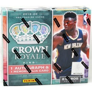 2019/20 Panini Crown Royale Basketball Hobby 16 Box Case